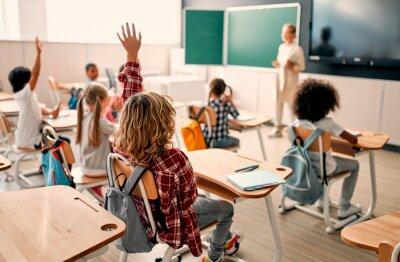 Naklejka Children at school