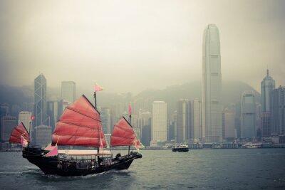 Naklejka chinese jachtu style w Hong Kongu