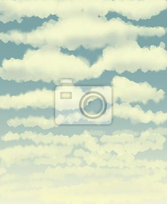 Chmury / digital painting / ilustracja