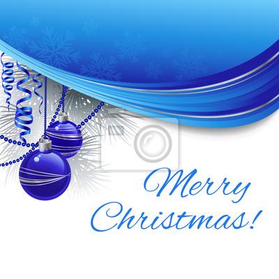 Naklejka Christmas ball background. Ilustracja wektorowa