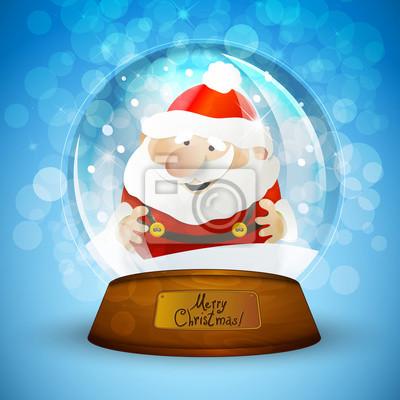Christmas Snow globu z Mikołajem