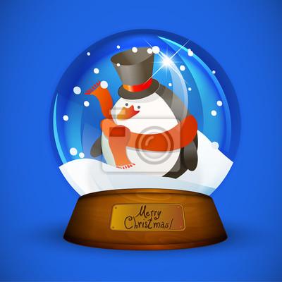 Christmas Snow globu z pingwinem
