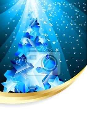 Christmas tła z abstrakcyjna drzewa wieczorem