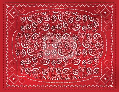 Chusteczka czerwony Paisley