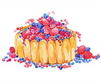 Naklejka ciasto