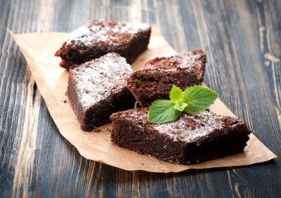Naklejka Ciasto czekoladowe brownie