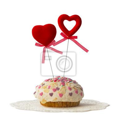 Ciasto z dwóch czerwonych serc