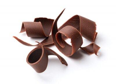 Naklejka ciemne czekoladowe loki