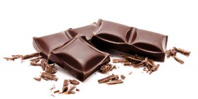 Naklejka Ciemne czekolady stos z tarta samodzielnie na biały