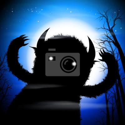 ciemny potwór