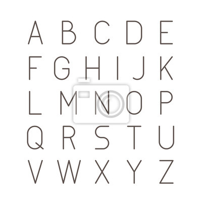 Cienka Futurystyczna Linia Czcionka Skoku. Slim Latin Latin Alphabet Typografia wektorowa na białym tle