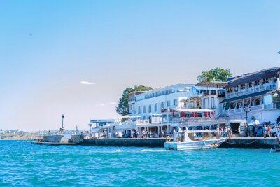 Naklejka City landscape of Crimea and the Black Sea coast Resort town Sevastopol