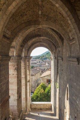 Naklejka Cityscape of Gubbio near Perugia (Italy)