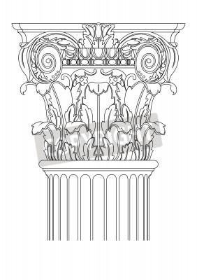 Naklejka clasic kolumny