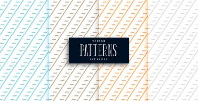 classic diagonal lines geometric pattern set of four