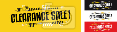 Naklejka Clearance sale banner in four variations