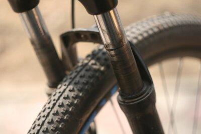 close up bike wheel
