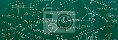 Naklejka Close up of math formulas on a blackboard