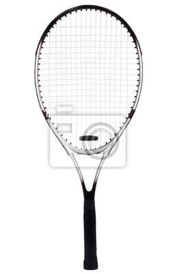 Naklejka Close-up z rakietą tenisową