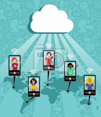 Cloud computing cell phone komunikacyjne