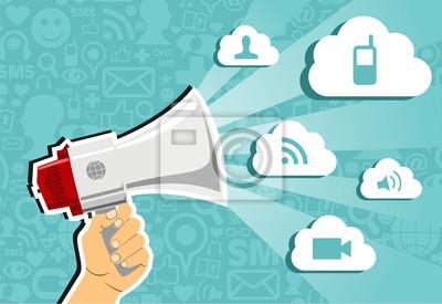 Cloud computing koncepcja marketingu.