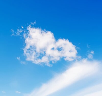 clouds and blue sky in the springtime