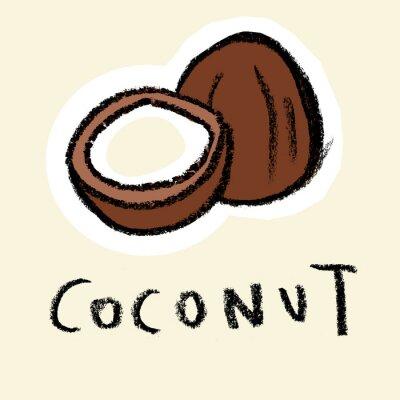 Naklejka Coconut na tle blado
