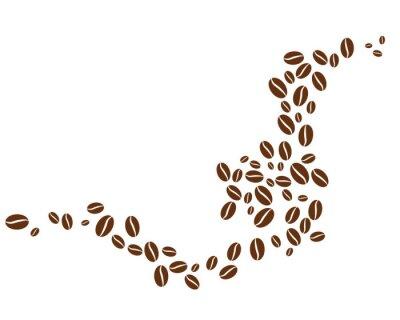 Naklejka coffee bean icon vector