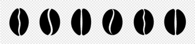 Naklejka coffee beans icon set. vector illustration