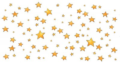 Naklejka Collection of stars style sketch cartoon watercolor.