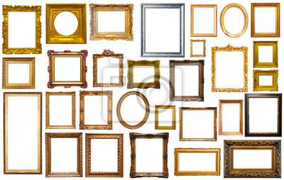 Naklejka collectrion of calssical art frames
