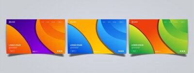 Colorful abstract landing page template