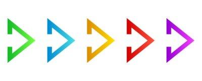 Naklejka Colorful arrows - vector.