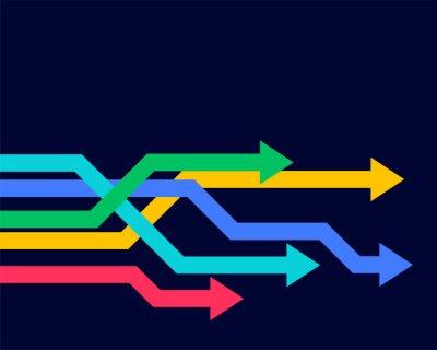 Naklejka colorful geometric arrows moving forward