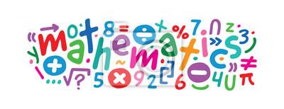 Naklejka colorful math symbols concept. math and math symbols
