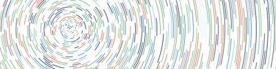 Naklejka Colorful Universe Circular Distribution Computational Generative Art background illustration