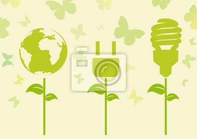 Naklejka Concetto ecologia