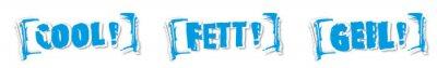 Naklejka cool-Fett-geil Przycisk