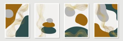 Creative minimalist hand draw Abstract art background with stain and shape elements vector EPS10. Design for wall decoration, postcard, poster or brochure