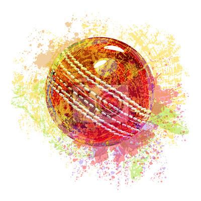 Cricket Ball Wszystkie elementy są w oddzielnych warstwach i pogrupowane.