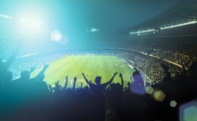 Naklejka crowded football stadium
