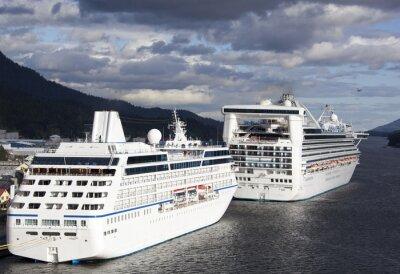 Naklejka Cruise wakacje na Alasce