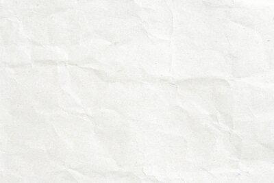 Naklejka Crumpled białego papieru