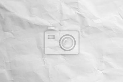 Naklejka crumpled white paper texture background