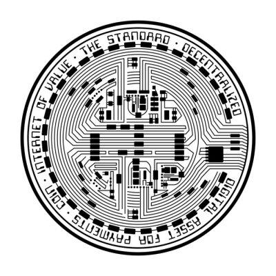 Naklejka Crypto coin empty
