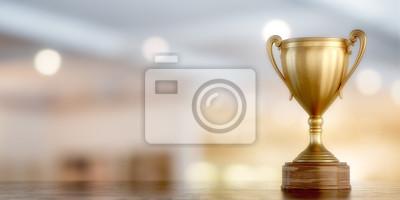 Naklejka cup zwycięzca złoto