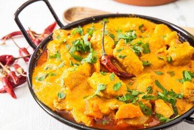 Naklejka Curry z kurczaka