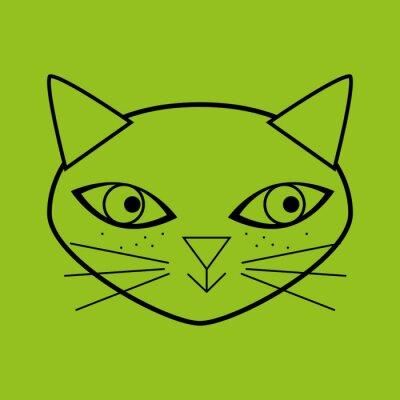 Naklejka cute cat projekt