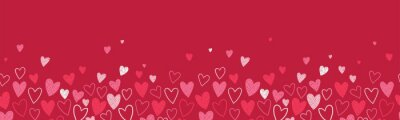 Naklejka Cute hand drawn hearts seamless pattern, great for Valentine's Day, Weddings, Mother's Day - textiles, banners, wallpapers, backgrounds.