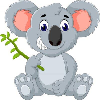 Naklejka Cute Koala cartoon ilustracji